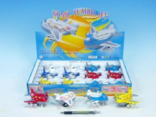 Mikro Trading Letadlo Jumbo kov plast 8,5 cm cena od 126 Kč