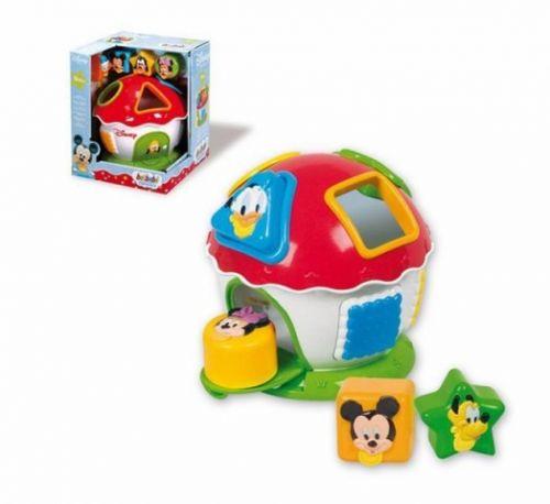 CLEMENTONI Mickey a kamarádi vkládací domeček s geometrickými tvary
