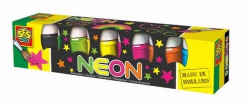 SES Temperové barvy neonové 6x45 ml cena od 0 Kč