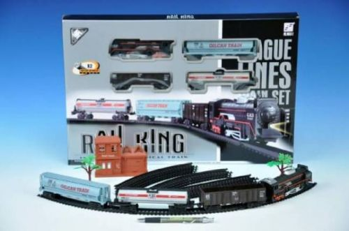 Wiky Vlak s kolejemi s doplňky plast 104x68 cm cena od 0 Kč