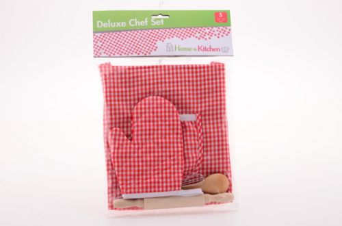 Johntoys Zástěrka s rukavicí a kuchyňským náčiním cena od 114 Kč