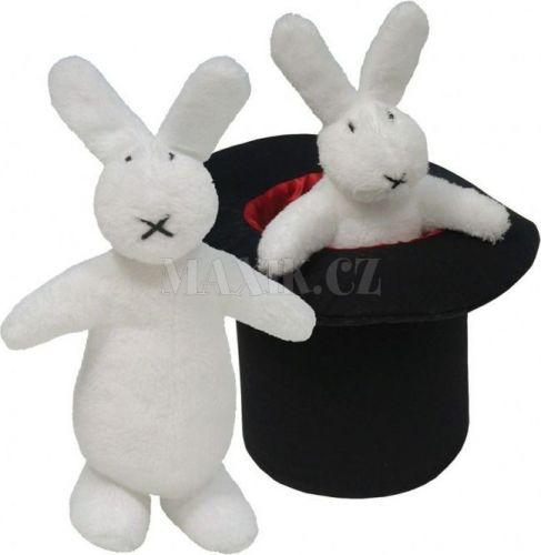 Teddies Plyšoví králíci Bob a Bobek s kloboukem