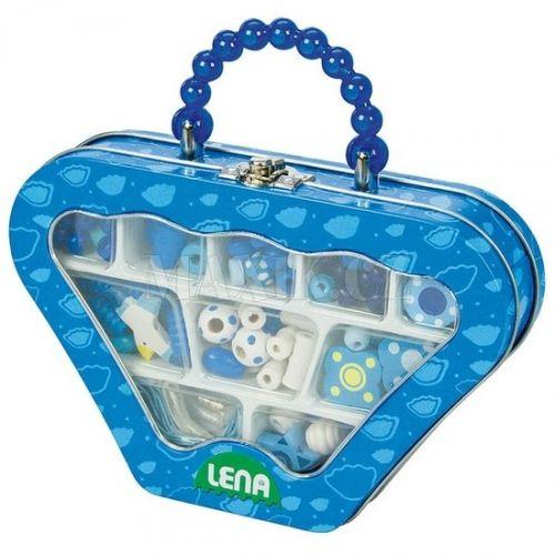 Lena Dřevěné perly v kovovém obalu cena od 139 Kč
