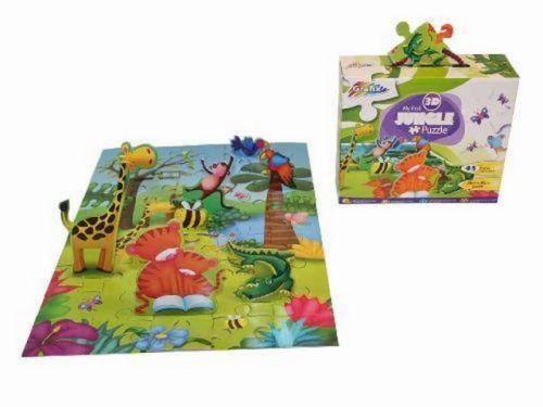 SES 3D PUZZLE Jungle cena od 41 Kč