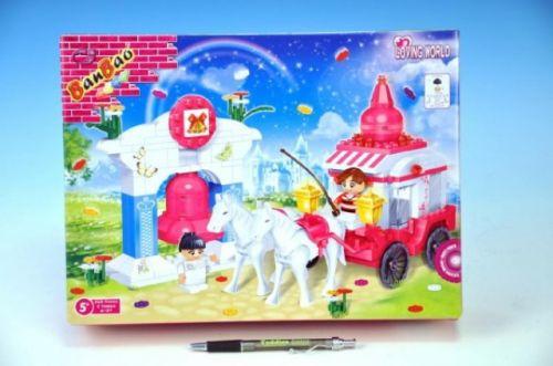 MIKRO TRADING BanBao Loving World svatební kočár s koňmi