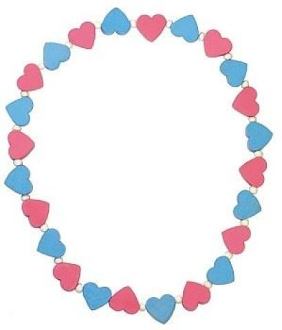 DETOA Náhrdelník s růžovými a modrými srdíčky cena od 46 Kč