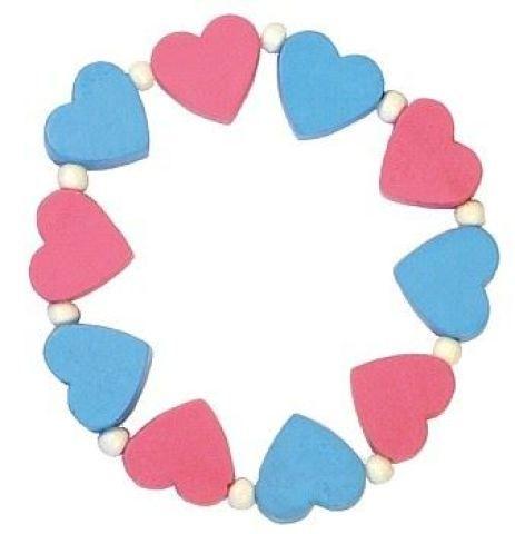 DETOA Náramek s růžovými a modrými srdíčky cena od 23 Kč