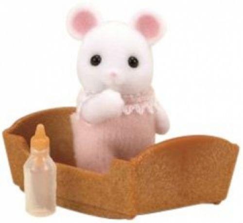 Sylvanian Families Baby bílá myška Sylvanian family