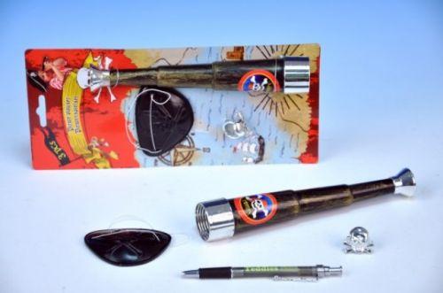 TEDDIES Pirátská sada dalekohled, klapka na oči, prsten na kartě cena od 37 Kč