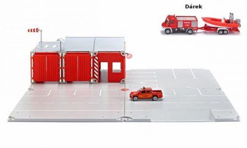 SIKU World Set požární stanice + Hasičské auto