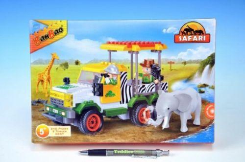 MIKRO TRADING Stavebnice BanBao Safari Terénní jeep + 2 figurky