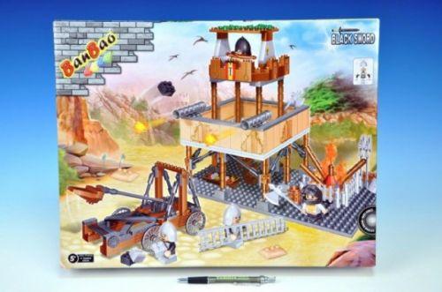 MIKRO TRADING Stavebnice BanBao Strážní věž + 4 figurky