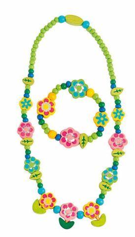 WOODY Souprava náhrdelník a náramek Květiny s lístky cena od 59 Kč