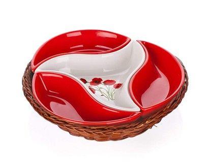 BANQUET Red Poppy mísa v košíku 23 cm cena od 250 Kč