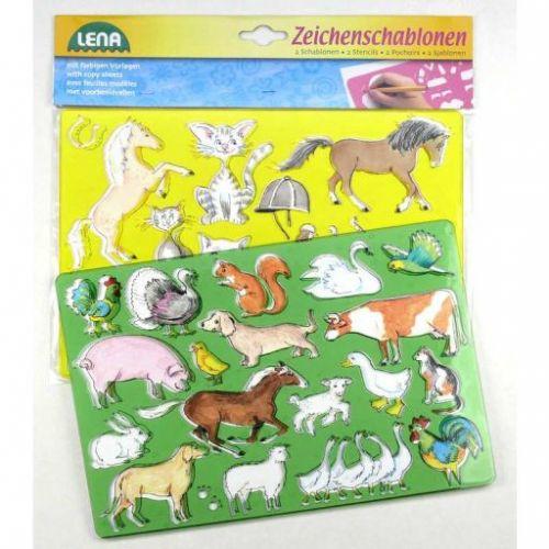 Lena Kreslící šablony koně, kočky cena od 45 Kč