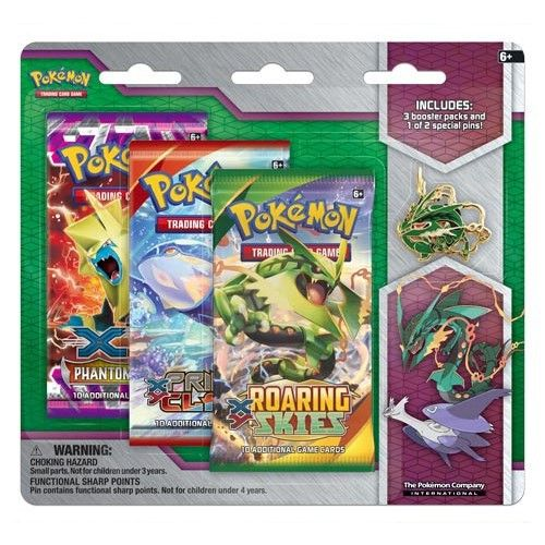 Konami Pokémon XY Mega Evolution Collector Pin 3-Pack Mega Rayquaza cena od 0 Kč
