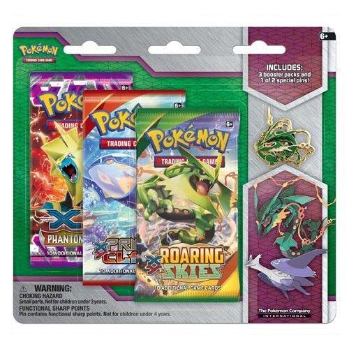 Konami Pokémon XY Mega Evolution Collector Pin 3-Pack Mega Rayquaza cena od 0 Kč