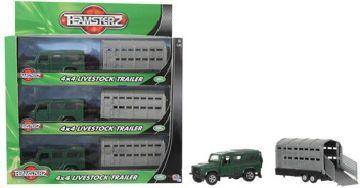Alltoys Terénní auto s přívěsem na převážení zvířat Teamsterz cena od 149 Kč