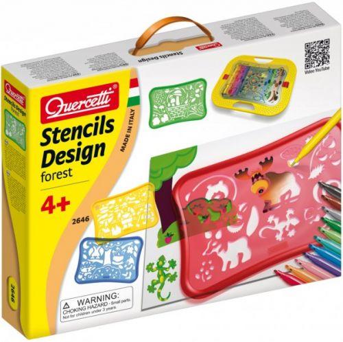 Quercetti Design Forest Stencils cena od 366 Kč