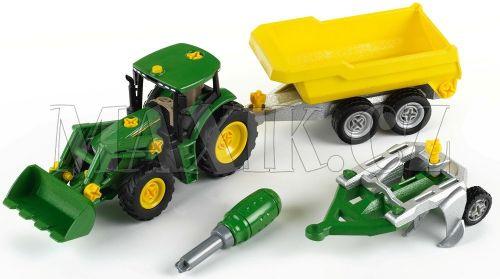 Klein John Deere Traktor se sklápěcím přívěsem a pluhem cena od 849 Kč