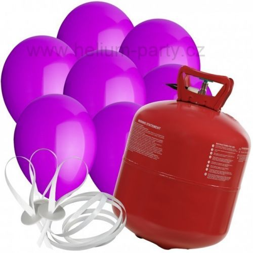 Worthington Industries EU XXL helium + 100 fialových balónků