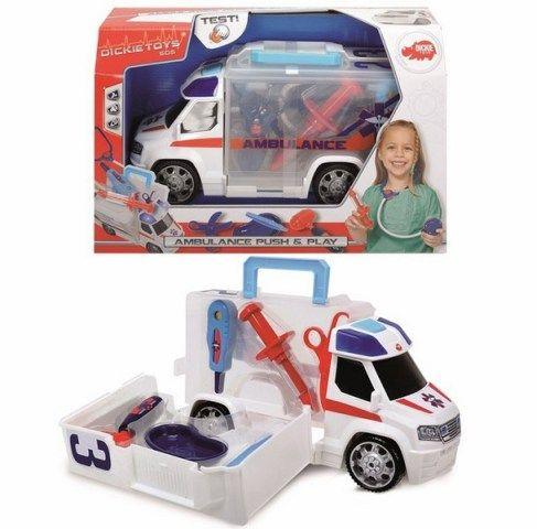 DICKIE Ambulance s lékařským vybavením 33 cm cena od 491 Kč