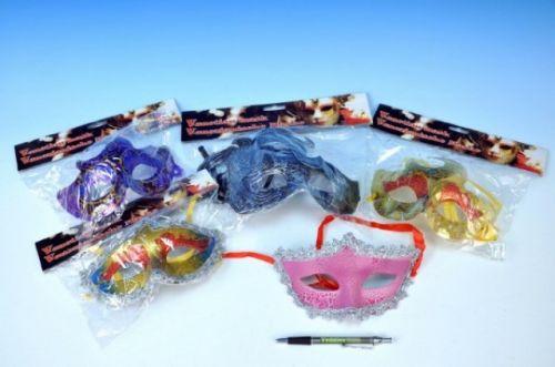 TEDDIES Benátská maska plast 20 cm cena od 21 Kč