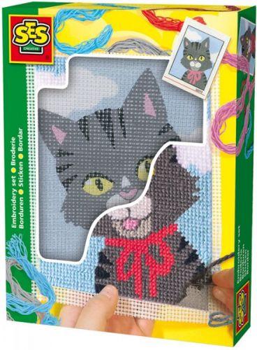 SES Vyšívaní dečka kočička cena od 199 Kč