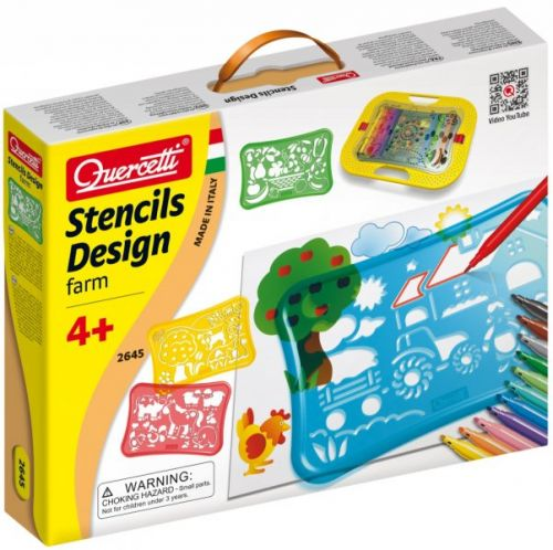 Quercetti Stancils Design Farm cena od 366 Kč