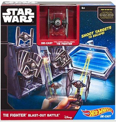 Hot Wheels Star Wars Hrací set s hvězdnou lodí TIE Fighter Blast cena od 455 Kč