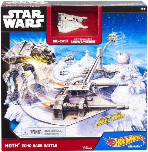 Hot Wheels Star Wars Hrací set s hvězdnou lodí Hoth Echo Base Battle cena od 0 Kč