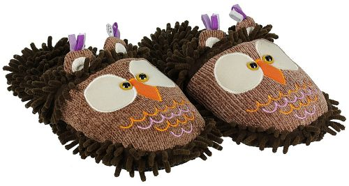 Aroma Home Fuzzy Friends Slippers OWL boty