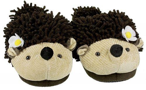 Aroma Home Fuzzy Friends Slippers Hedgehog boty