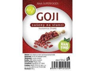 AWA superfoods RAW Goji sušené plody 500 g