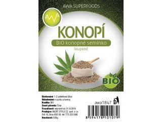 AWA superfoods BIO konopné semínko loupané 500 g