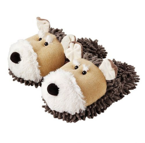 Aroma Home Fuzzy Friends Slippers Dog boty