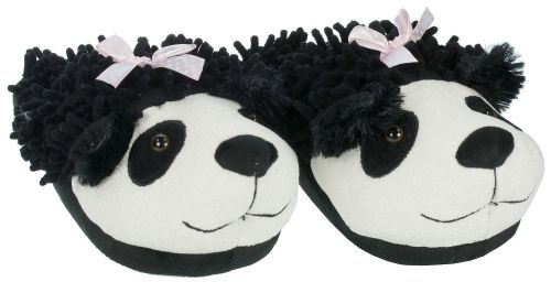 Aroma Home Fuzzy Friends Slippers Panda boty