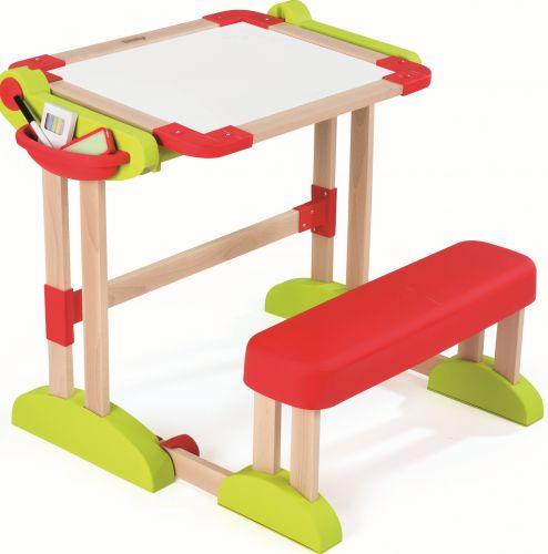 SMOBY Školní lavice Modulo Space dřevěná skládací magnetická a na křídu cena od 1941 Kč