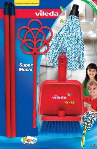 Faro Dětská souprava mop, smeták, praker a lopatka Vileda cena od 213 Kč