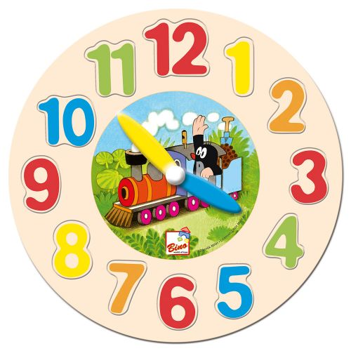 Bino Hodiny puzzle Krtek cena od 0 Kč