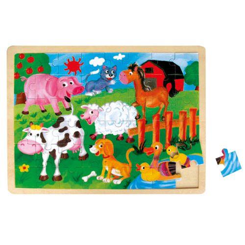 Bino Puzzle Zvířátka na farmě cena od 0 Kč