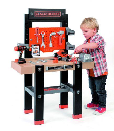Smoby pracovní stůl Ultimate s mechanickou vrtačkou 360701 cena od 1512 Kč