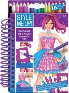 Wooky Style Me Up Návrhářské portfolio + pastelky cena od 82 Kč