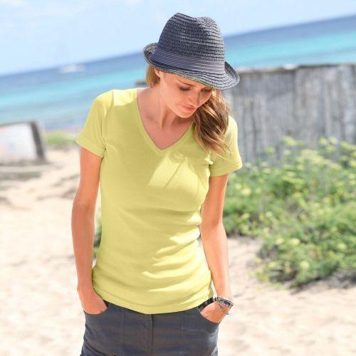 Blancheporte Jednobarevné tričko s výstřihem do V