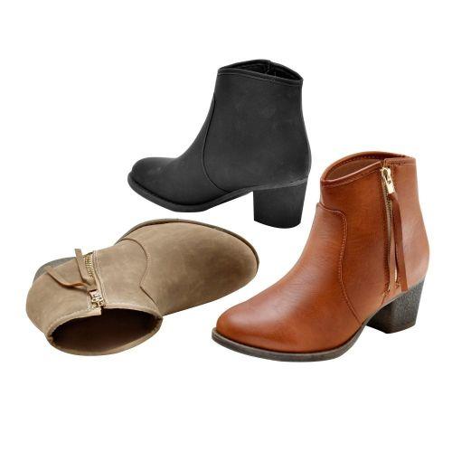 Blancheporte Kotníčkové boty na zip