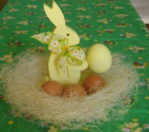 Herzig Zajíček velikonoční s miskou