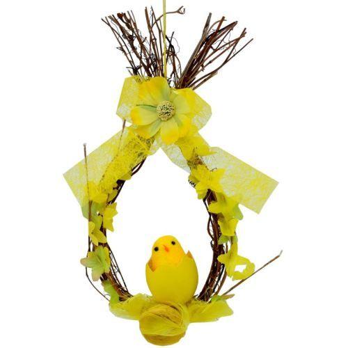 Velikonoční věneček s kuřátkem