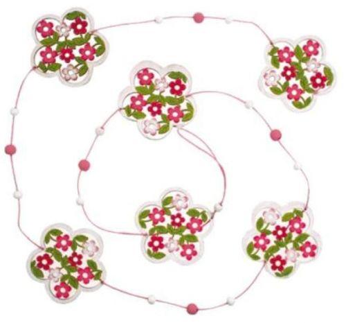 Řetěz květinový růžovo-bílý 118 cm
