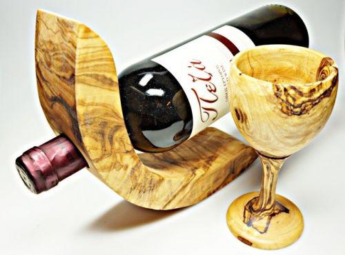 ELIXIR Crete držák na víno z olivového dřeva 1 lahev cena od 514 Kč