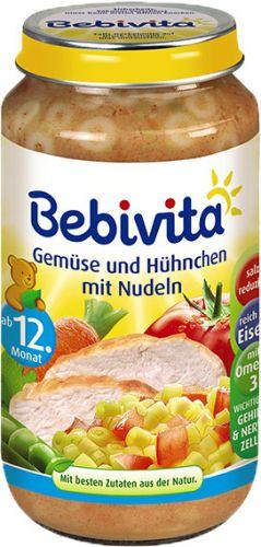 Bebivita Zelenina a kuřecí maso s nudlemi 6x250 g